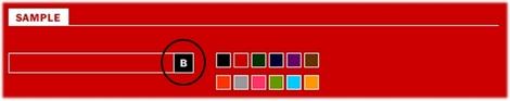 ボタンの色を選択